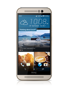 reparatie-htc-one-m9-gold-on-silver